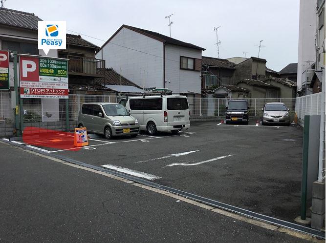 駐車場全景です。5番車室が駐車車室になります。