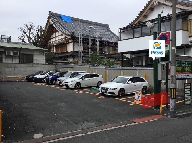 駐車場全景です。1番車室が駐車車室になります。