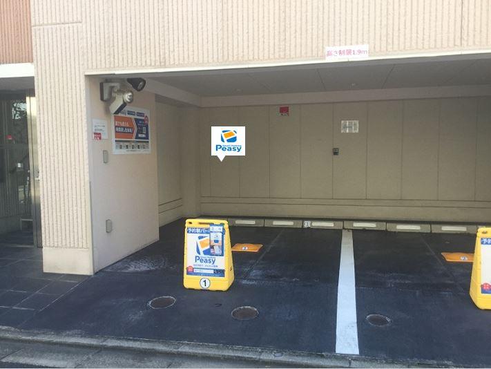 1番車室です。駐車場に向かって左側の車室です。