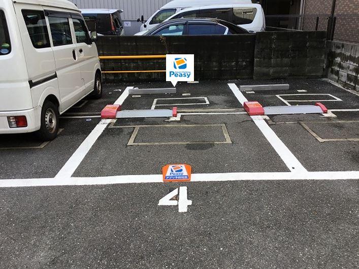 駐車車室です。4番車室です。