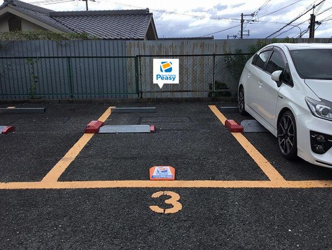 駐車車室です。3番車室です。