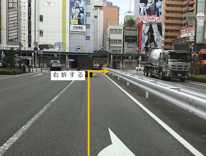 日本橋3南を右折します。