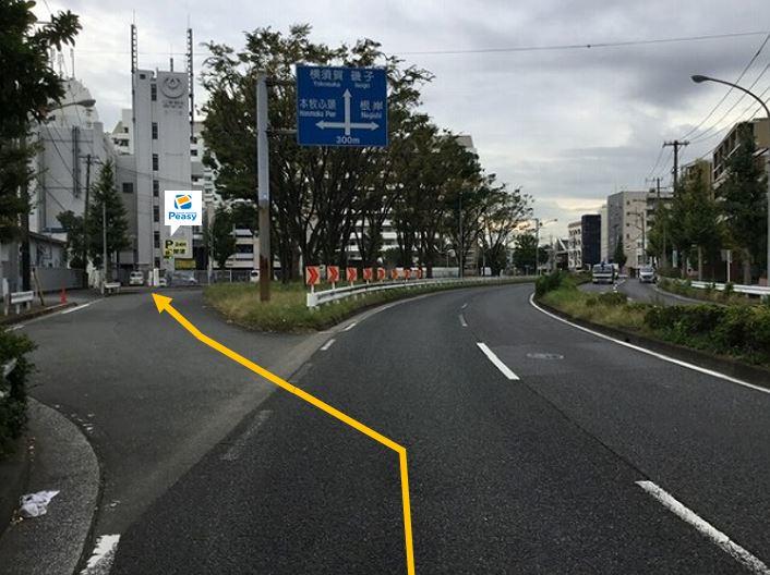 Y字路を左に進みます。