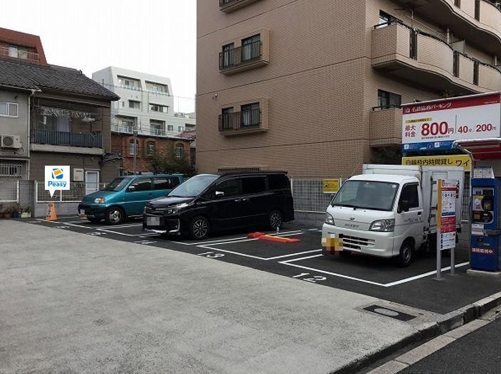 駐車場全景です。17番車室が駐車車室となります。